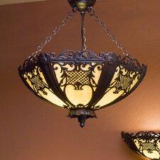 Rococo 1 Light Semi Flush Light