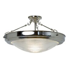 Traditional Prismatics 1 Light Semi-Flush Ceiling Light