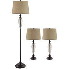 Burleigh 3 Piece Lamp Set