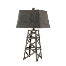 "Meadowhall 32"" H Table Lamp with Rectangle Shade"