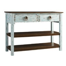 Tamarind Country Coastal Console Table