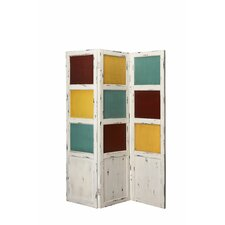 "72"" x 20"" Cayuga 3 Panel Screen Room Divider"