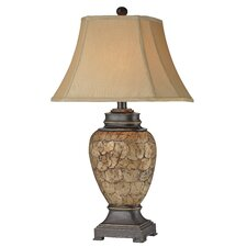 "Urn 32"" H Table Lamp with Bell Shade"