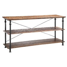 Urban Natural Poplar and Iron Console / Bookcase