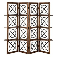 "72"" x 60"" Urban Natural 4 Panel Room Divider"
