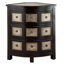 Cosmopolitan Bow Front Corner 3 Drawer Chest