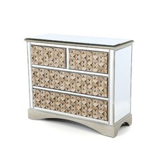 Savona Mirrored 4 Drawer Chest