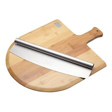 Italian Pizza Board and Knife Serving Set