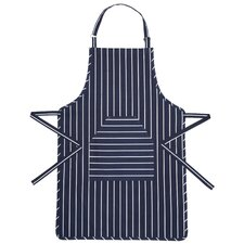 Butcher's Striped Apron in Blue