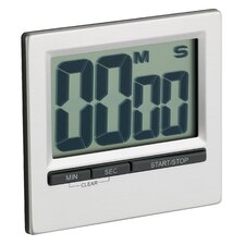 Large Easy Read Chromed Timer