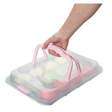 Sweetly Does It Twelve Cup Baking Tray with Lid