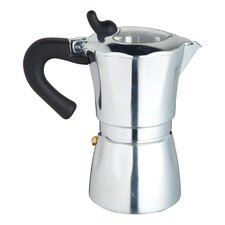 Italian Six Cup Espresso Coffee Maker  with Clear Lid