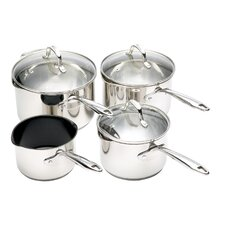 Clearview Pour 'n' Strain 4 Piece Cookware Set