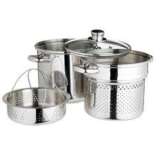 Italian 4 Piece Cookware Set in Silver