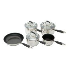 Clearview Touch 8 Piece Cookware Set in Silver