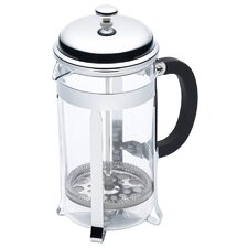 Le'Xpress Eight Cup Chrome Plated Cafetiere