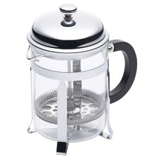 Le'Xpress Four Cup Chrome Plated Cafetiere