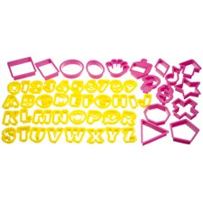 Let's Make 52 Piece Plastic Cookie Cutter Set