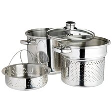 Italian Pasta Pot with Steamer Insert and Lid