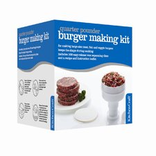 Quarter Pounder Hamburger Maker with One Hundred Wax Discs
