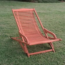 Oslo Outdoor Contemporary Folding Patio Lounge Chair