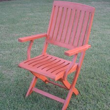 International Caravan Set of 2 Royal Tahiti Folding Patio Chair