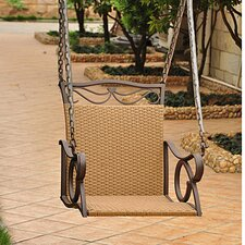 Valencia Wicker ResinSteel Hanging Single Patio Chair Swing