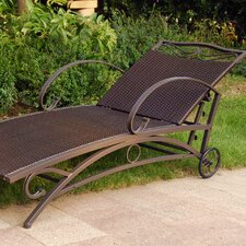 Valencia Wicker ResinSteel 5-Position Patio Chaise Lounge