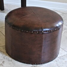 "International Caravan Faux Leather 17"" Ottoman"
