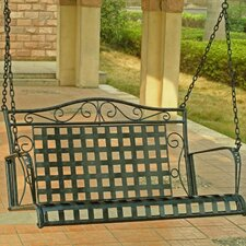 <strong>International Caravan</strong> Mandalay Wrought Iron Hanging Porch Swing
