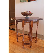 International Caravan Windsor Hand Carved Wood Foldout Console Table