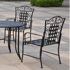 <strong>International Caravan</strong> Mandalay 5-Piece Outdoor Iron Patio Dining Set