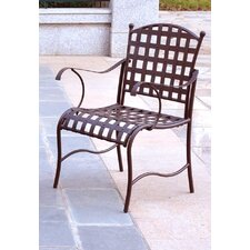 <strong>International Caravan</strong> Santa Fe Iron Patio Dining Chair (Set of 2)