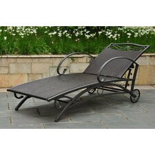 <strong>International Caravan</strong> Valencia Wicker ResinSteel 5-Position Patio Chaise Lounge