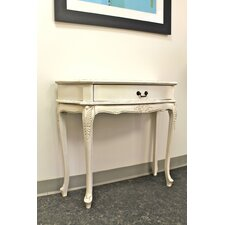 Windsor Hand Carved Antique White Console Table