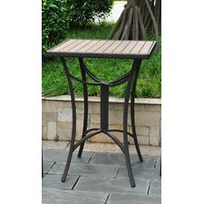 Barcelona Wicker Resin/Aluminum Patio Table