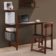 Washington Writing Desk with Side Shelf and Chair