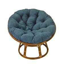 """42"""" Rattan Papasan Chair with Microsuede Cushion"""