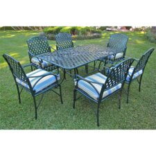Diamond Lattice 7 Piece Patio Dining Set