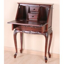 Windsor Hand Carved Wood Secretary Desk