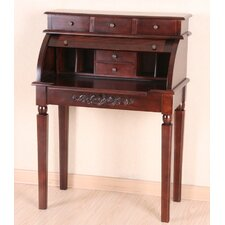 Windsor Hand Carved Roll Top Desk