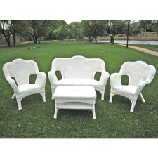 Monaco 4 Piece Wicker Resin Seating Group