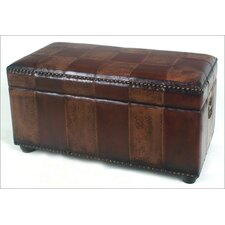 International Caravan Faux Leather Bedroom Storage Trunk/Bench