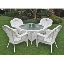 Riviera 5-Piece Wicker ResinAluminum Patio Game Group Set