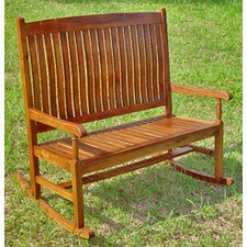 Highland Acacia 2-Seater Wood Patio Rocker
