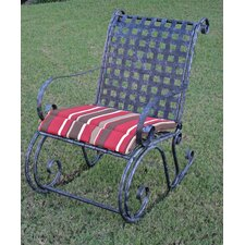 Mandalay Iron Patio Porch Rocking Chair