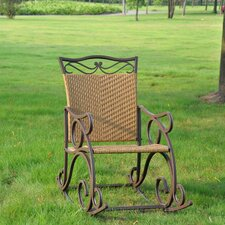 <strong>International Caravan</strong> Valencia Outdoor Wicker Patio Rocking Chair