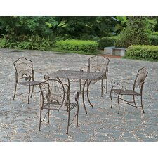 <strong>International Caravan</strong> Sun Ray 5-Piece Iron Patio Dining Set