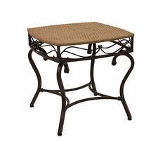 International Caravan Valencia Wicker Resin Patio Side Table