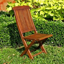 Highland Acacia Folding Patio Chair (Set of 2)